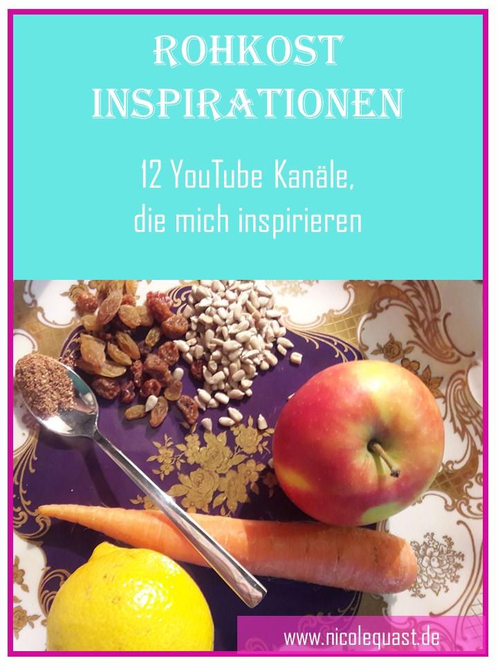 Rohkost Inspirationen – 12 YouTube Kanäle, die mich inspirieren