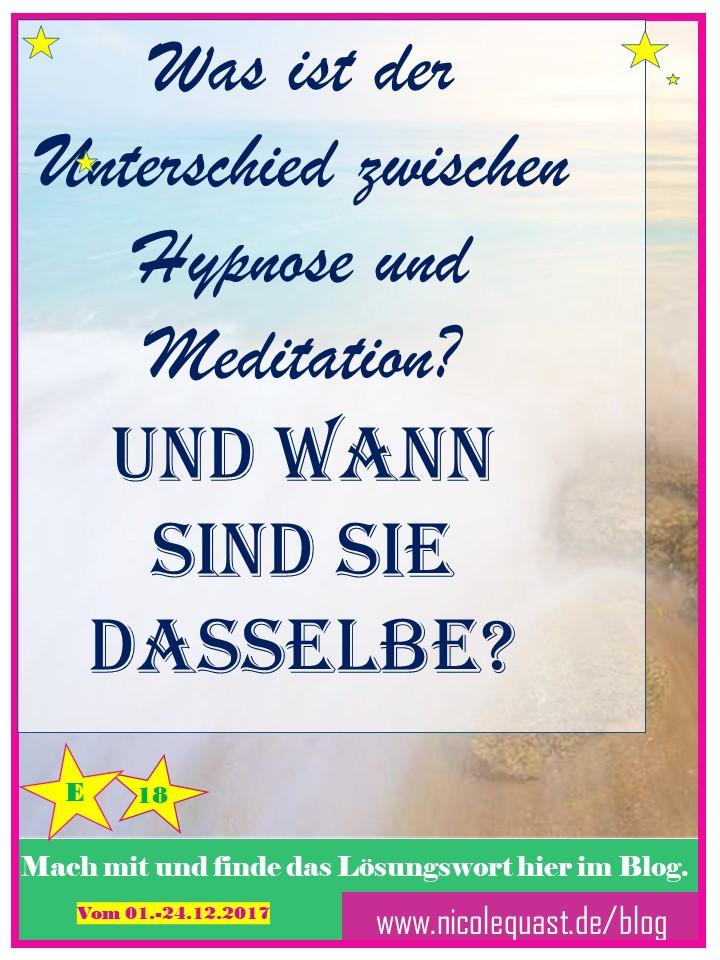 Was ist der Unterschied zwischen Hypnose und Meditation? Und wann sind sie dasselbe?