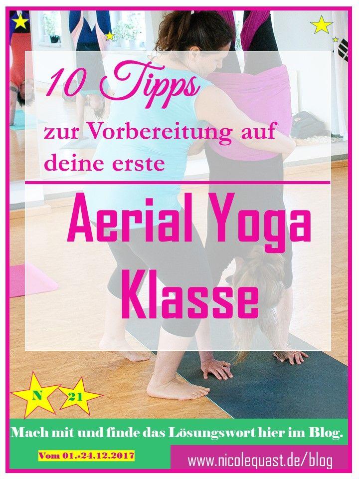 Aerial Yoga Vorbereitung